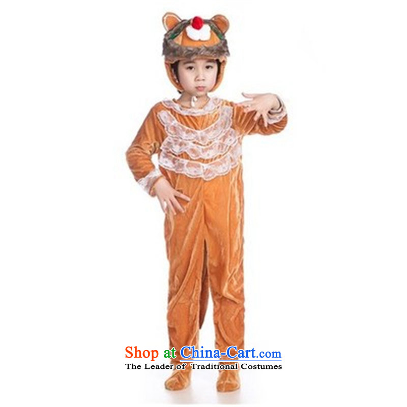 Special Children's Day 61 early childhood clothing animals will lion cartoon show services stage costumes long-sleeved lion 140
