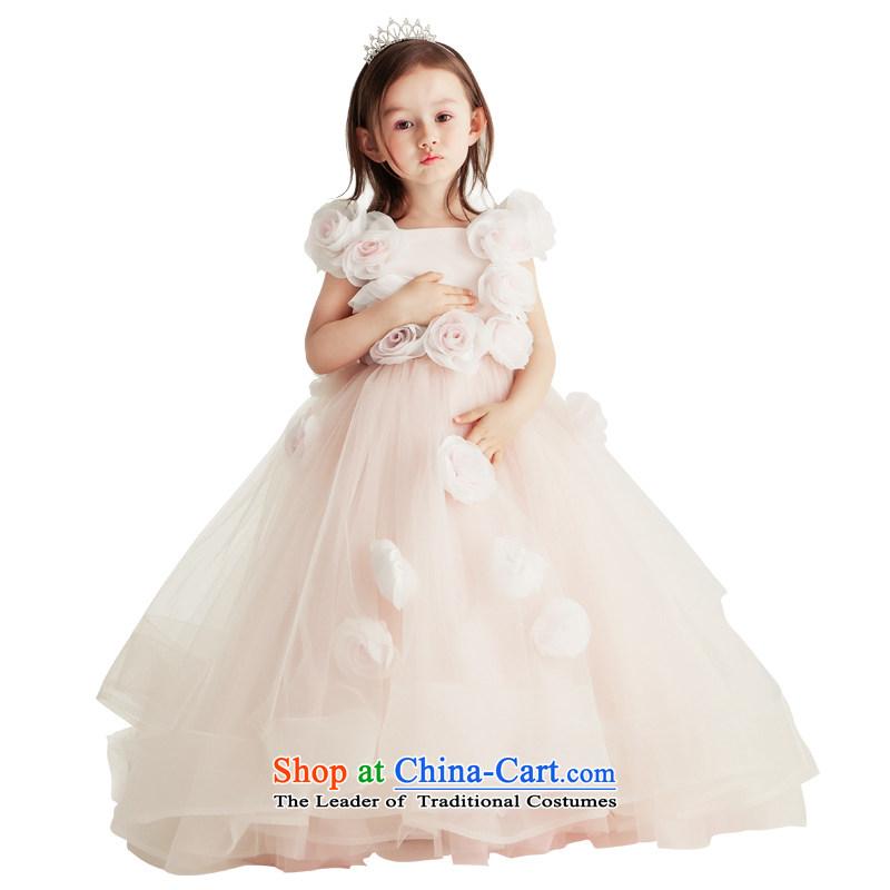 Po Jasmine children dress parent-child replacing girls wedding dress princess skirt summer evening dresses Flower Girls advanced custom image color and size - 5 Days custom shipping