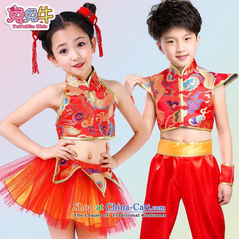 61. Children will martial arts services boy martial arts performance clothing kung fu children performances services serving girls yellow men and cattle has been pressed and 120-130 shopping on the Internet