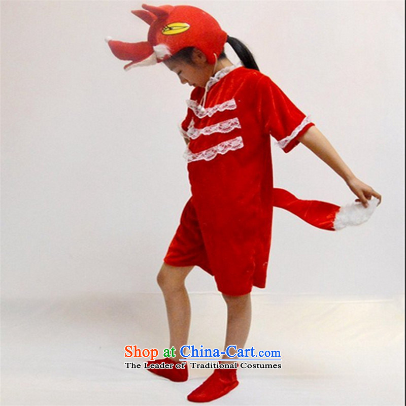Children's Entertainment Services textbooks drama cartoon service Red Fox animal costumes small clothing on New Year's, hats fox long-sleeved clothes shoes 150