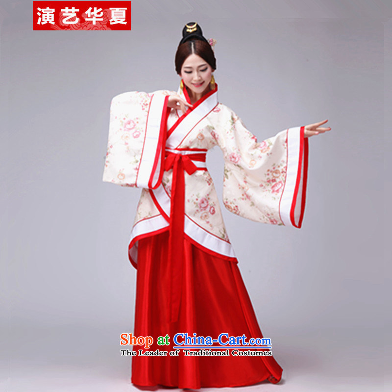 Ancient Han-Women's Track Civil Han-Tang Dynasty Han-Graduation Ceremony will start with the floor the restaurant wearing redl155cm--165cm