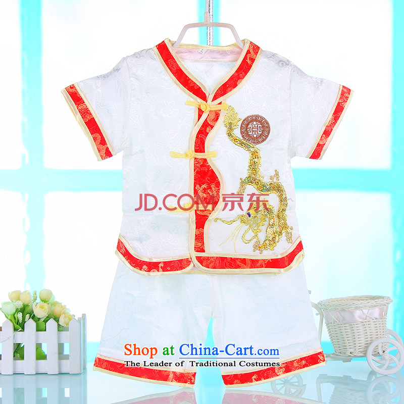 2015 new baby boy Kit Tang Dynasty Summer Children Spring Infant Garment Infant Tang Dynasty Package white80