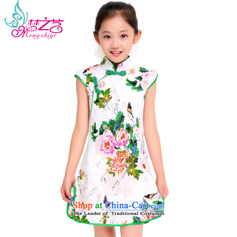 Dream arts children Tang dynasty cheongsam dress 2015 New Pure Cotton floral baby girl summer qipao MZY-0313 pattern color hangtags 120 110 to 120cm tall recommendations