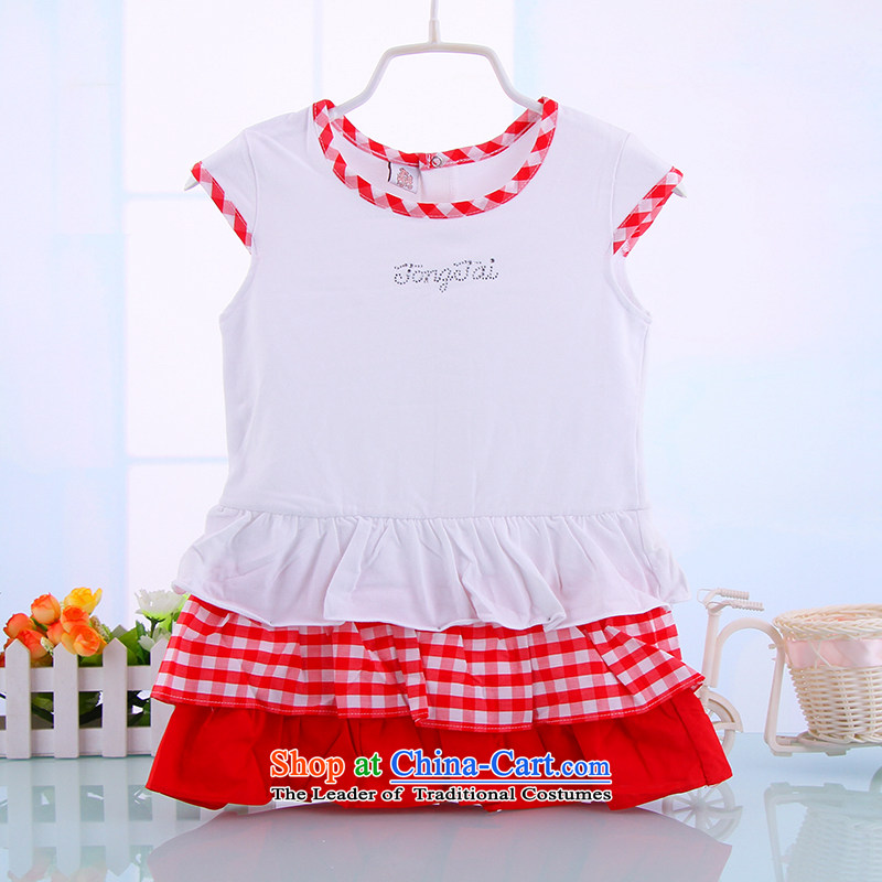 2015 children's wear girls dresses summer infant princess skirt small children skirts 0-1-2-3-year-old female babies summer Red90