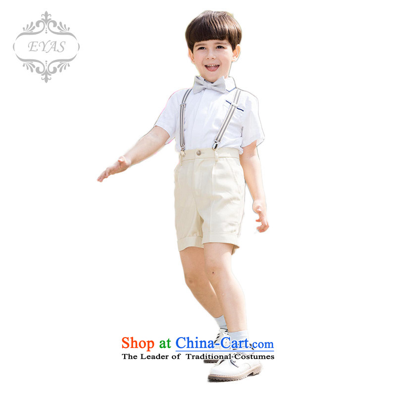 Eyas children school dress costumes and Flower Girls 61 choral jumpsuits kit summer birthday apricot color. 150cm services