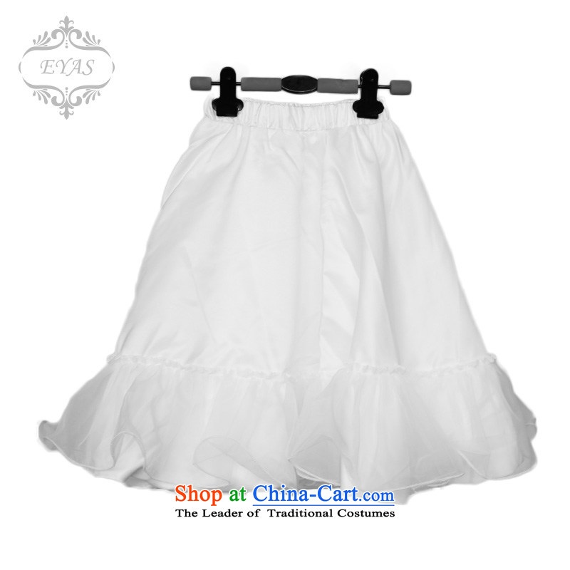 The girl child Skirt holding children long skirt body bon bon skirt princess petticoat body skirt dance skirt the spring and summer of small whiteL(140-150). skirt