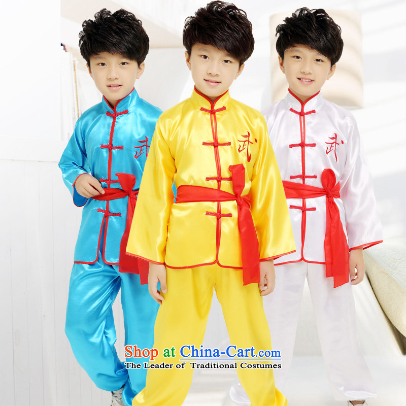Children will therefore show martial arts child care services for children's Taijiquan Kung Fu Show service pack apparel package for boys and girls will stage of Blue 170