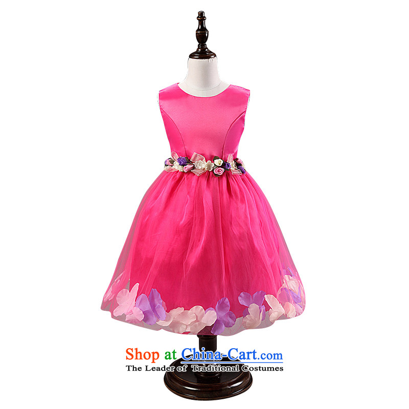 Children's wear on chip every summer children every skirt girls dresses wedding flower girls skirt Bow Ties are red聽150 Princess Skirt