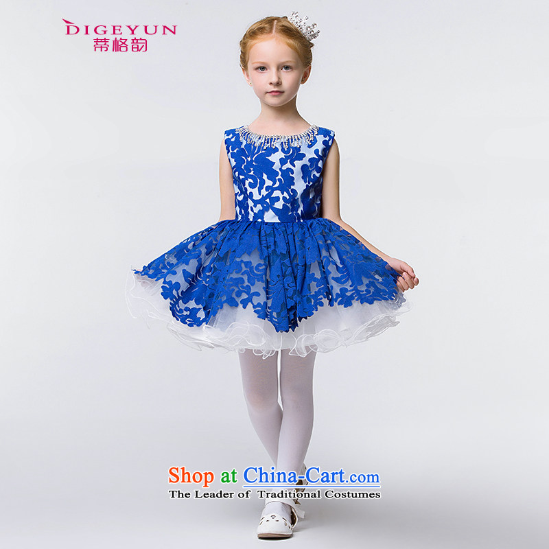 The following new paragraph 2015 Summer Children dress A sweet skirt girls dress skirt princess skirt Flower Girls skirt Blue140