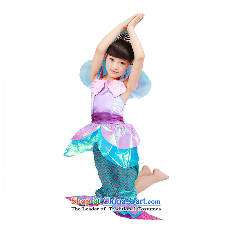 Children will girls dancing services mermaid clothing children serving聽TZ5122-0002 theatrical performances聽purple聽130cm