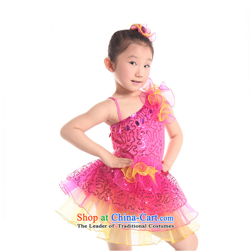 Child Care will dance wearing bright girls dance performances to skirt chipTZ5122-0011better red150cm