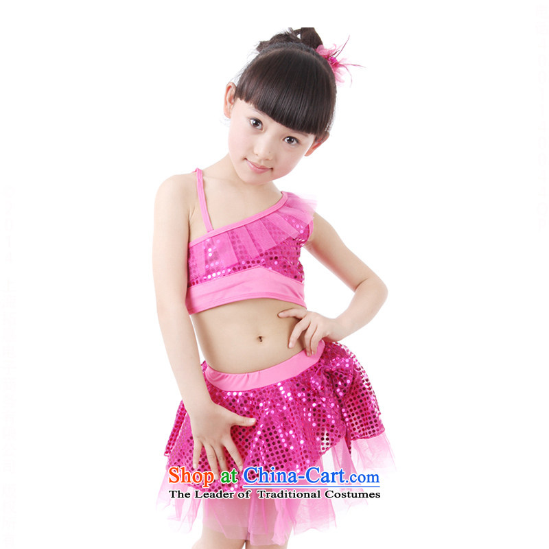 Children will come on the girl child is Modern Dance Dance wearing uniforms of early childhood services TZ5122-0001 game stage plum 110cm,