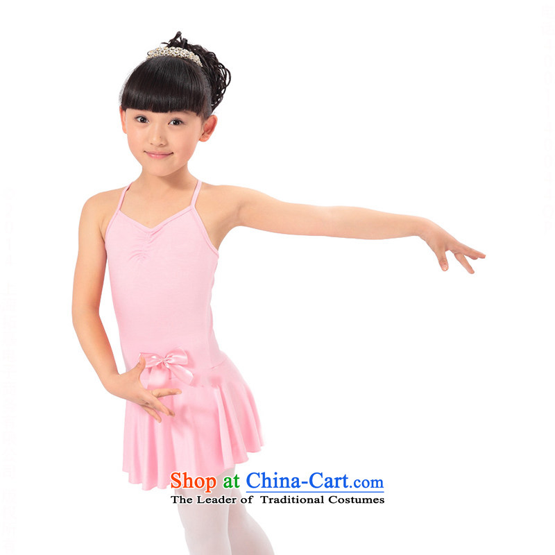 Children Dance Dance Dance exercise clothing clothing skirt dance services straps connected girlsTZ5123-0002pink (straps) Height 100-110cm