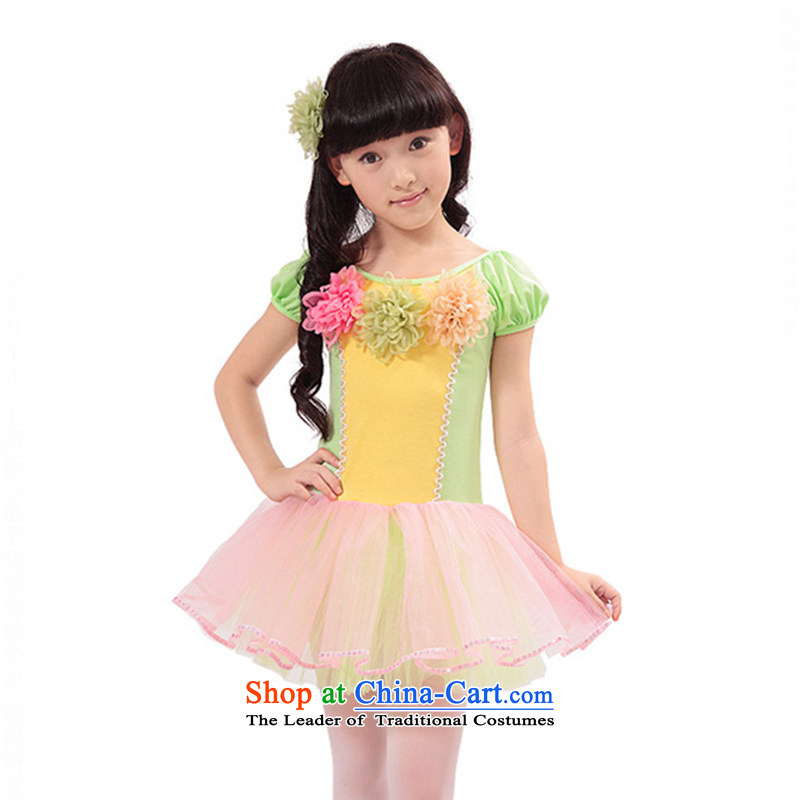 Children Ballet exercise clothing dress Shao Er bon bon skirt ballet skirt girls dancing skirt TZ5123-0004 gauze petticoats, 140cm