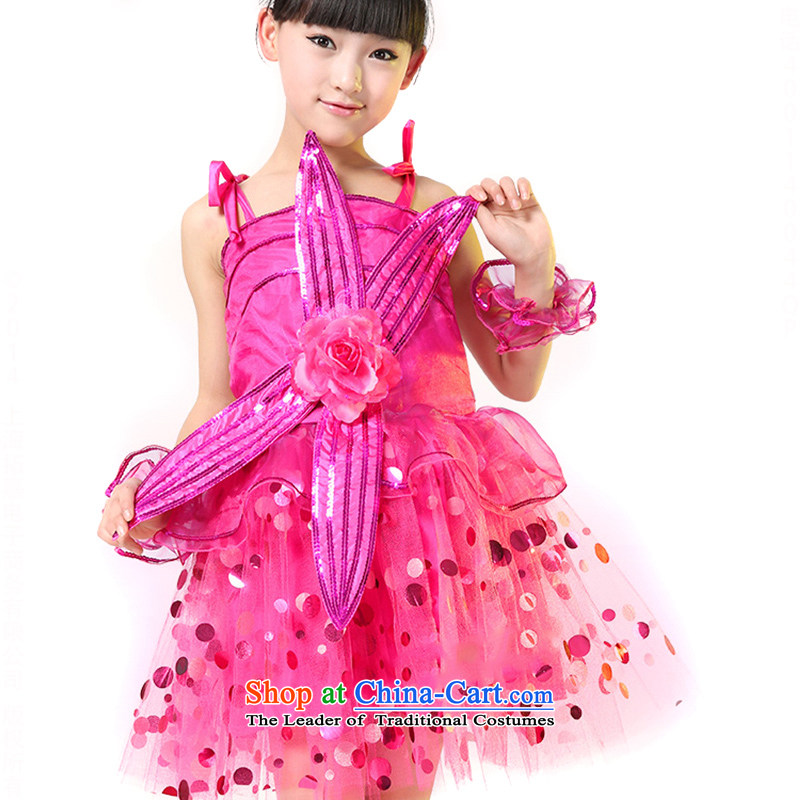Children costumes girl child care modern dance performances in children's dress uniform girls will?be red?140 recommendations TZ5123-0009 concept large code