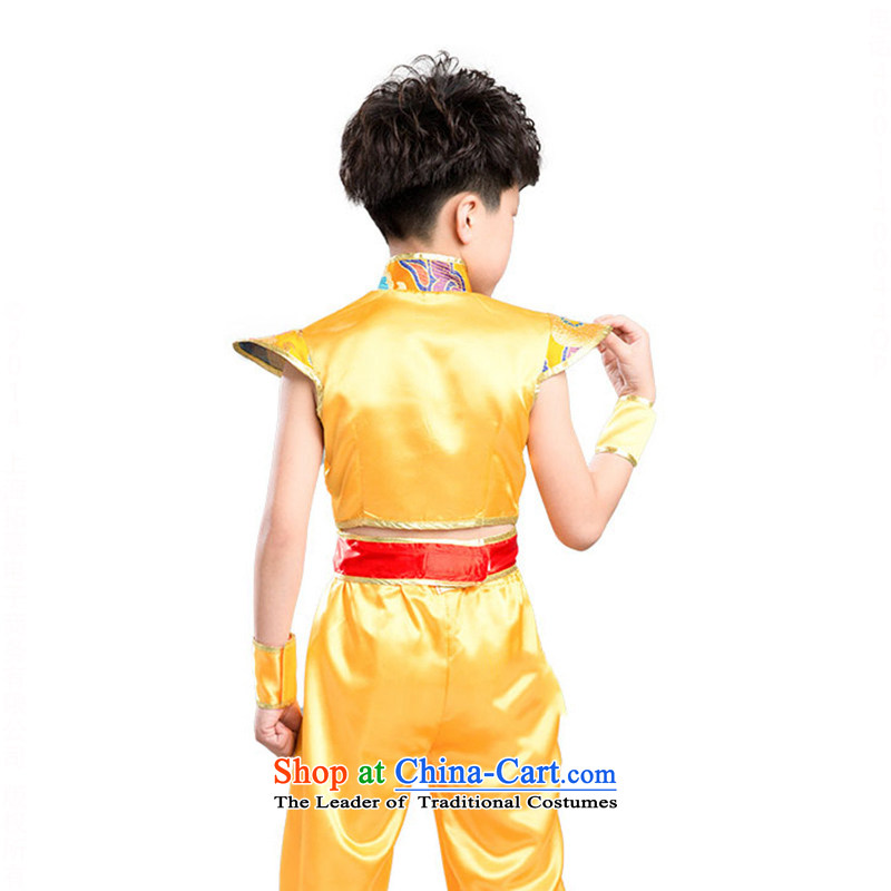 Children will martial arts services boy martial arts Kung Fu performances services serving girls聽TZ5123-0012聽yellow (male) 150CM,POSCN,,, shopping on the Internet