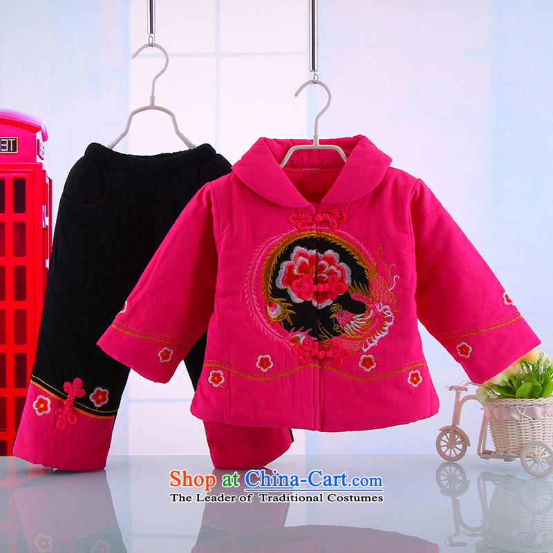 Tang Dynasty Children baby girl Tang Dynasty Tang dynasty winter coat warm winter thick Tang Dynasty Suit 5157 pink 120