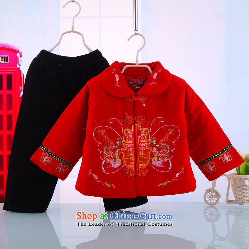 The new children's wear your baby Tang dynasty spring field costume female age aged 100 service kit out services 5,172 Red 100