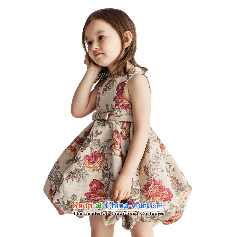 Po Jasmine children dress bon bon princess skirt girls evening dresses flower girl children wedding dresses high-end Custom Image Color Custom size - 5 day shipping