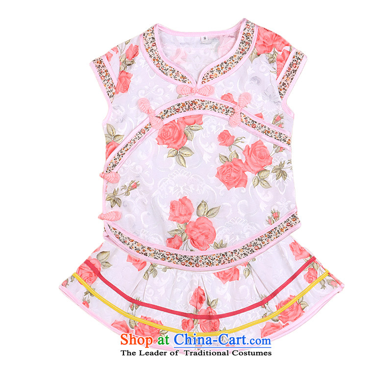 Bunnies Dordoi Tang dynasty infant girl doll qipao kit baby princess vest the age of children's wear skirts on infant and young child spring and autumn summer Red 100