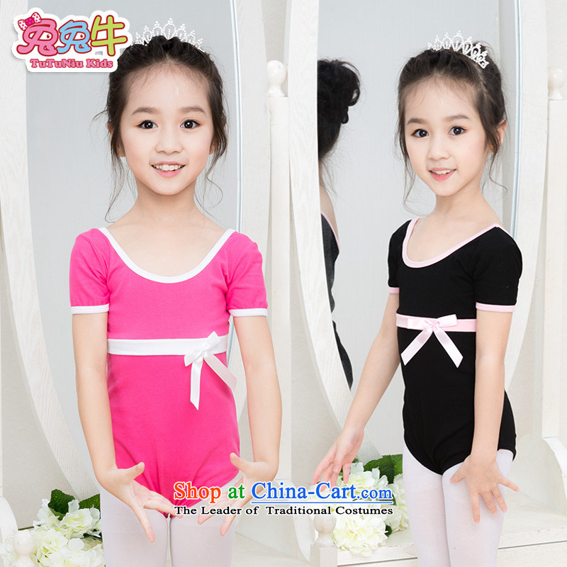 Rabbit and cattle children dance services girls ballet skirt long-sleeved dress Dance 2015 new children dance wearing long-sleeved black exercise clothing 140