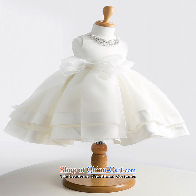 M High State Children moderator dress girls bon bon wedding dress Flower Girls Princess skirt to live piano music services white dresses Summer 8022