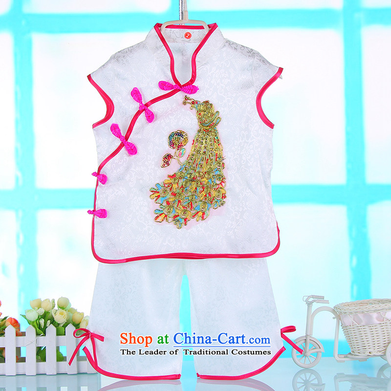 In the summer the new girls Tang Dynasty Package your baby clothes summer gown Chinese children aged 1-2-3-4 Summer Kit 110cm, Pink