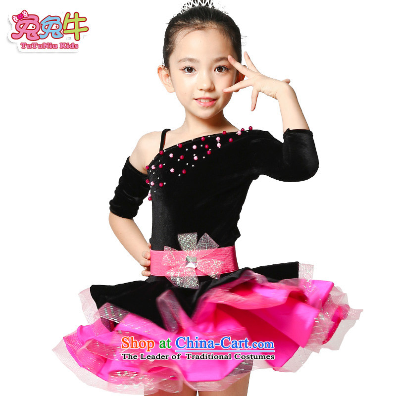 Rabbit and cattle children Latin dance wearing woman fall scouring pads Latin dance exercise clothing services serving girls Latin dance black skirt the pre-sale period of approximately 10 days?160