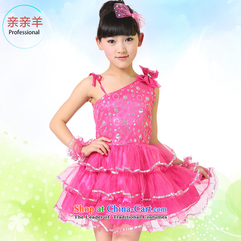 Kiss sheep children dress girls modern dance performances services for children with Mantle skirt stage performances of early childhood services game Modern Dance Dance wearing the red collective聽120cm
