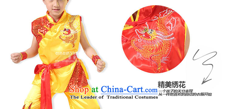 Children will kiss the sheep to boys and girls martial arts performance Services Early Childhood Game dance service martial arts Shao Er collective martial arts garment Yellow聽130cm photo, prices, brand platters! The elections are supplied in the national character of distribution, so action, buy now enjoy more preferential! As soon as possible.
