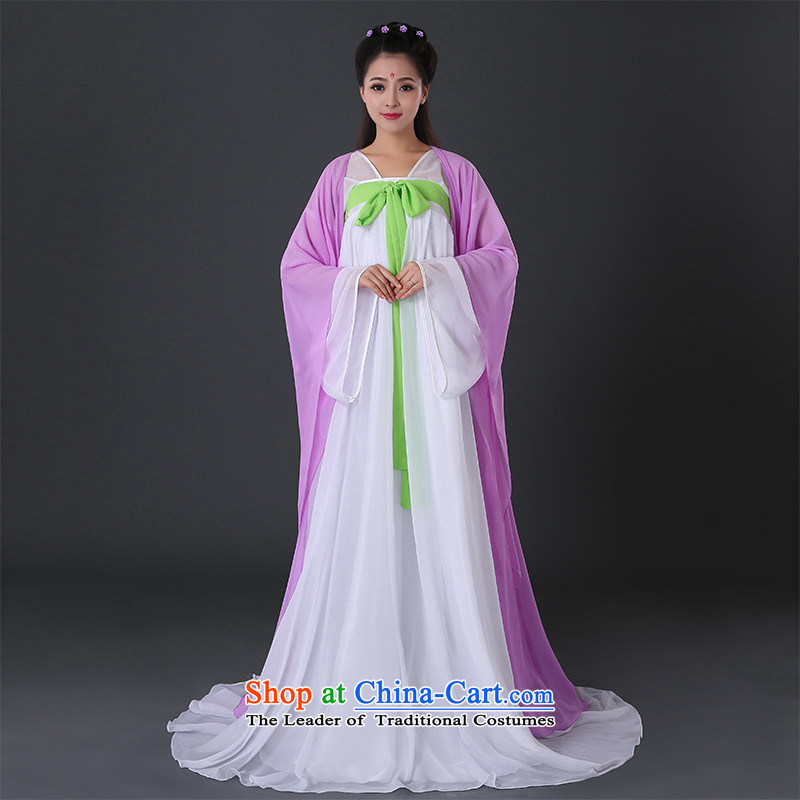 Ancient clothing female costume fairies gliding Han-wu with legendary chest skirt improvement will you can multi-select attributes by using the purple intensify XXXL chest 3.0 Feet