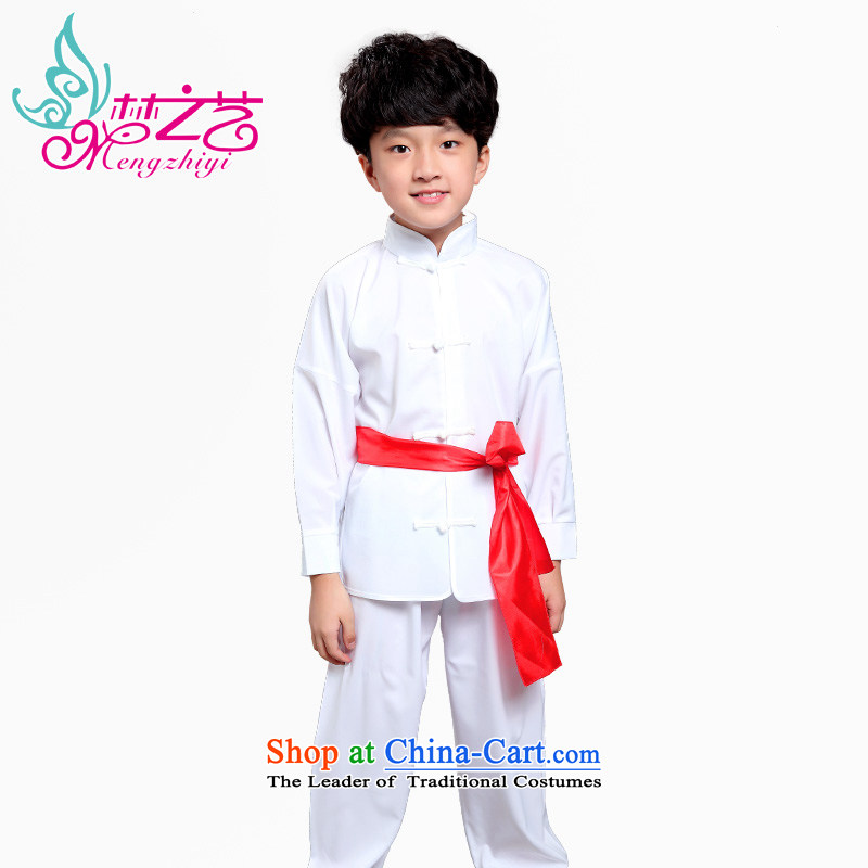A dream of a martial arts services summer arts children in children's Tai Chi practitioners wearing long-sleeved autumn new boxed boy short-sleeved Show Services Services will work MZY-0314 female white long-sleeved hangtags 150-160cm suitable for 160