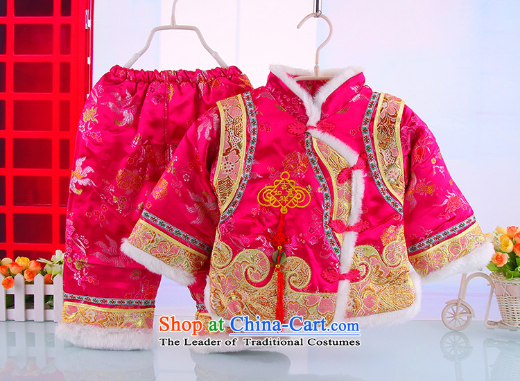 Tang Dynasty baby boys Tang dynasty winter thick cotton infant age service Tang Dynasty New Year Service thick cotton kit red 100 pictures, prices, brand platters! The elections are supplied in the national character of distribution, so action, buy now enjoy more preferential! As soon as possible.