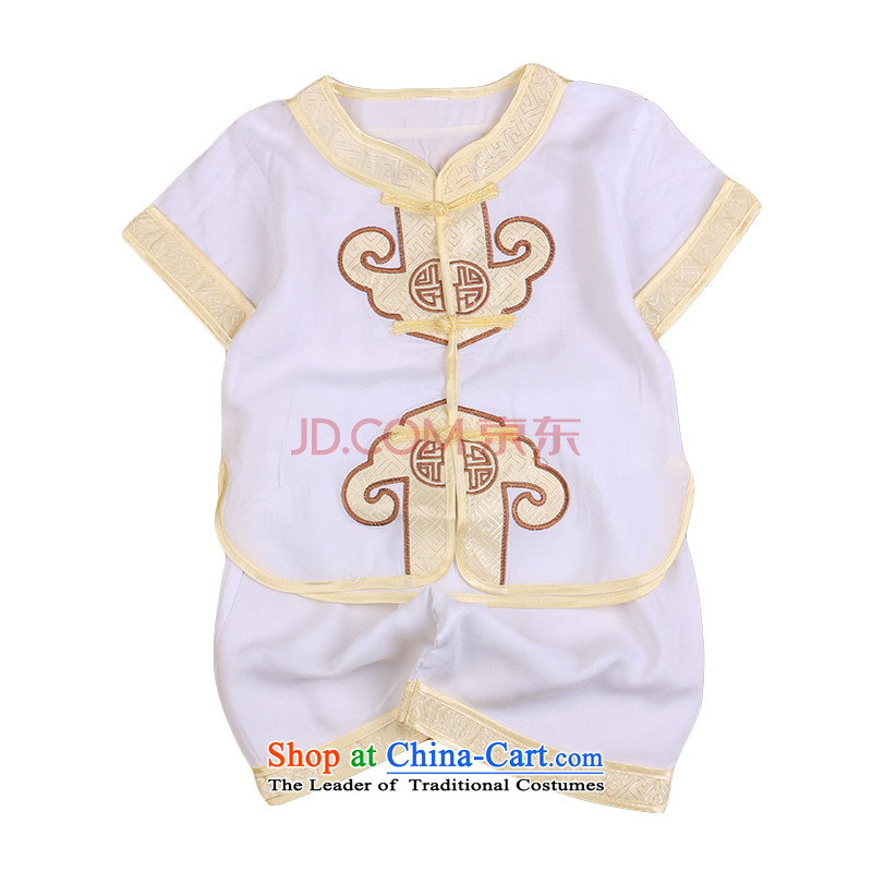 Tang Dynasty children's apparel boy summer baby years China wind Birthday Boy spring dresses costume 04799. . White 73