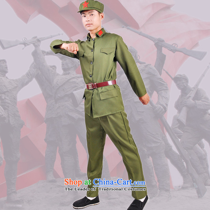 The grand military parade of the 2015 performance of the Eighth Route Army will serve adult red uniform of the Red Guards in the War of Resistance Against Japan clothing 70th anniversary of the victory in the war of uniformed military green show show serv