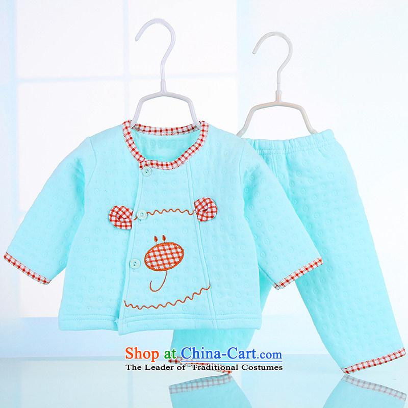 2015_, autumn and winter baby children newborn baby Underwear sets underwear package thermal underwear Kit 3156 Light Green聽59