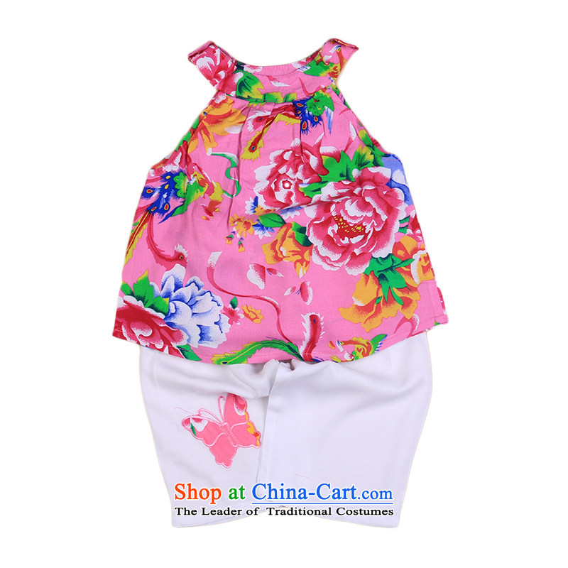 The children of the new Tang Dynasty Package classical garden of ethnic Tang dynasty spring and summer load strap back Netherlands New girls aged 0 to 3 will baby children's wear pink 110