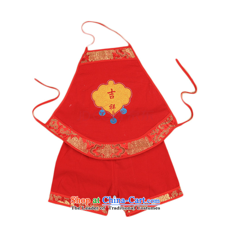 Baby publicity related kit summer infant red poverty that men and women with children born Tang dynasty 0-3-6 half months to 1 year old 4644th