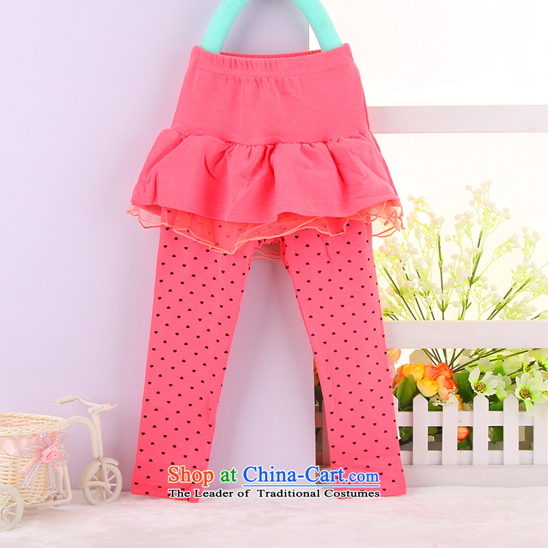 Baby spring spring and fall new women's children's wear skirts, forming the baby trousers bon bon skirt baby new dress pants 3439 Red 90