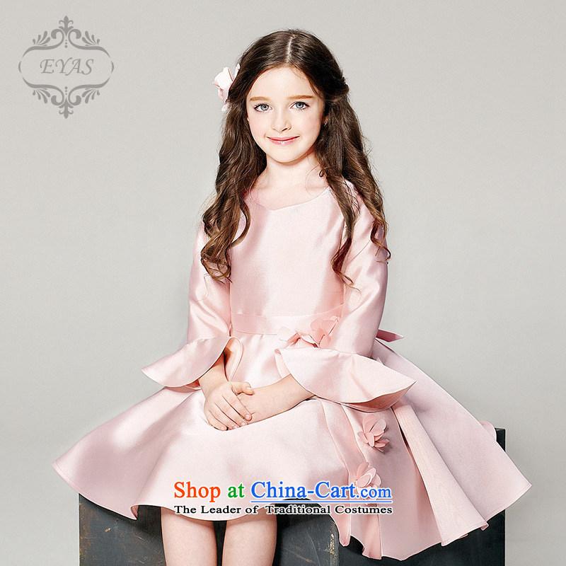 Eyas girls dress skirt long-sleeved children fall/winter Princess skirt girls evening dresses wedding dress Flower Girls skirt Pink Pink dresses140,EYAS,,, shopping on the Internet