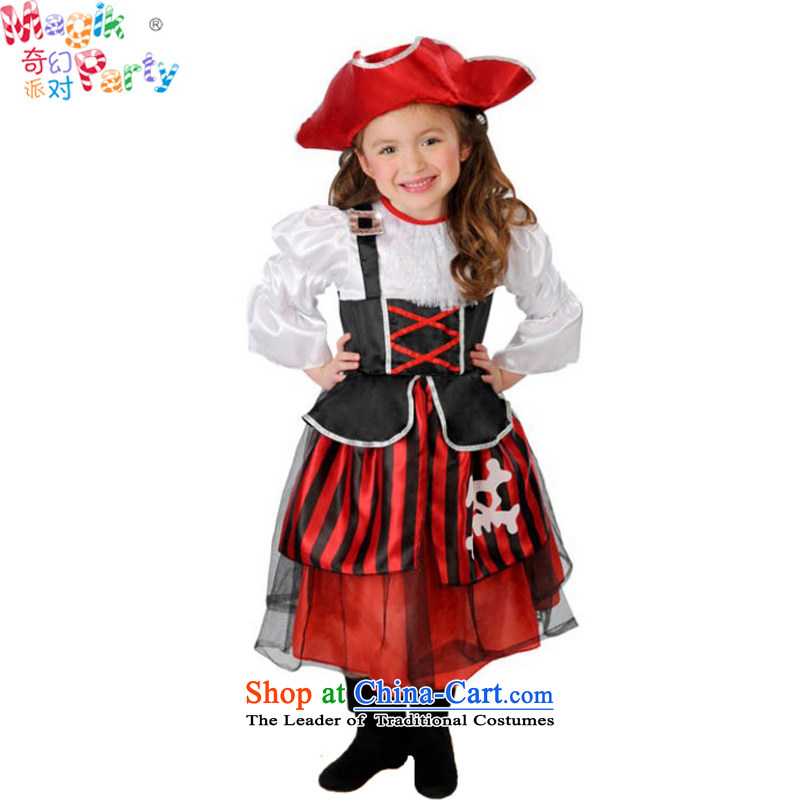 Fantasy Halloween costumes party costumes photography services schools for girls costumes and pirate skirt female pirate ship captain 125cm7-8 pirate code