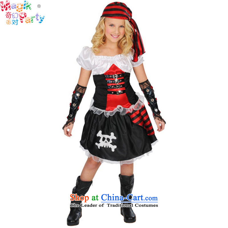 Fantasy Halloween costume party elementary school girls show Dress Photography dress role play pirates replacing girls pirates skirt pirates skirt140cm