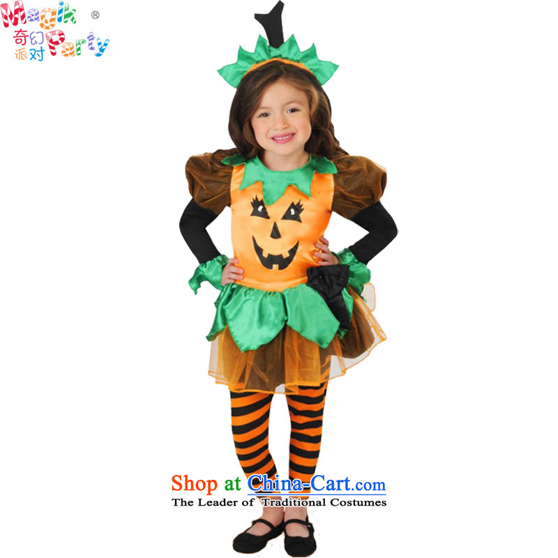 Fantasy Party Halloween costumes girl children's wear girls dresses school performance apparel role play cushaw skirt 12212) 105cm5-6 code