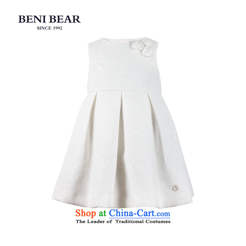 Bunney bear children serving children's wear dress show moderator will dress princess skirt girls sleeveless dresses White150