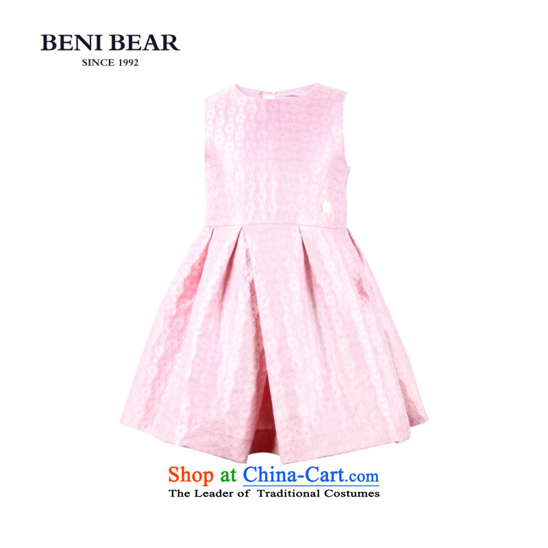 Bunney bear children dress new services will show the princess skirt wedding flower girl children's wear dresses moderator dress bon bon skirt high-end custom pink 120