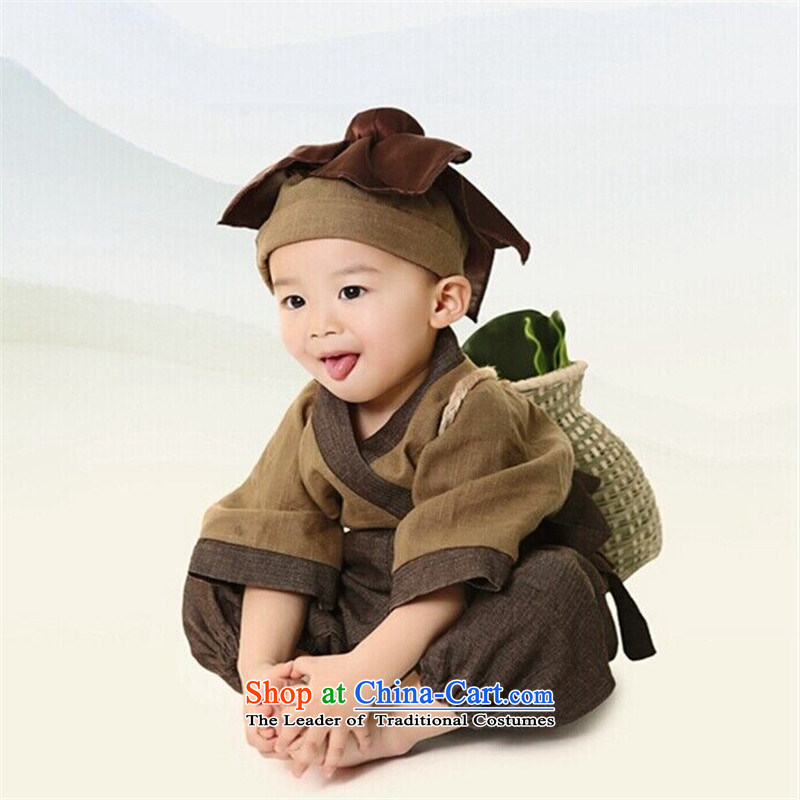 The new service small boy Neo-confucian scholar costume Han-small medicine child will children photography props clothing boy Kit 110