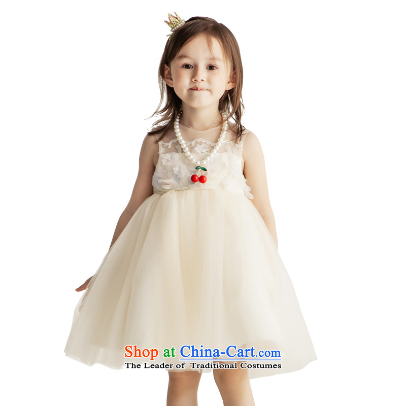 Po Jasmine children dress of autumn and winter 2015 new girls Flower Girls wedding dress princess skirt bon bon skirt Custom Image Color Custom size - 5 day shipping