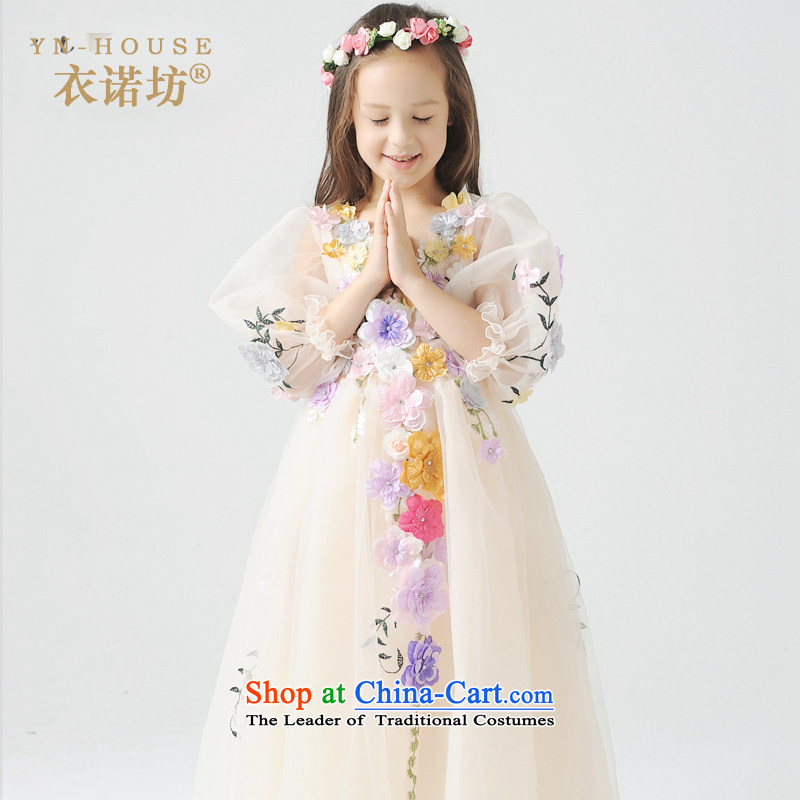 The Workshop on Children Yi wedding dresses flower of their children Cinderella bon bon skirt Halloween kids will yi Square 2015 Christmas, New picture color,?150