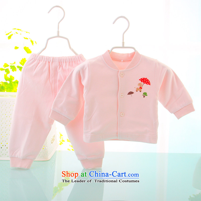 Replace the Spring and Autumn Period and the men and women of your baby Underwear sets pure cotton long-sleeved two kits children fall Yi Chau 59cm pink pants