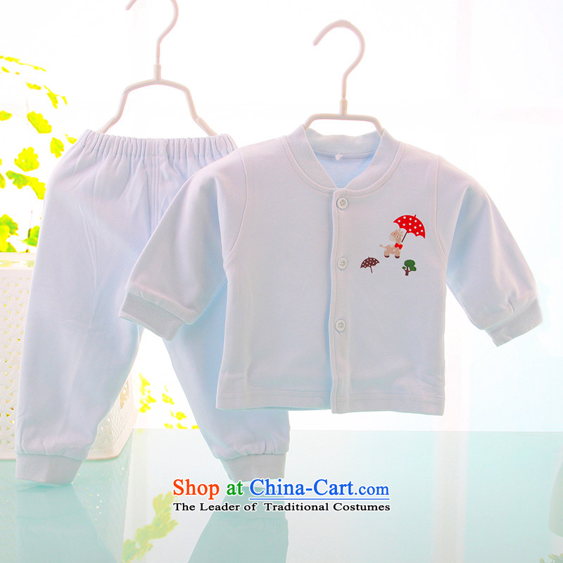 Children Underwear sets for boys and girls in spring and autumn pure cotton baby autumn Yi Chau pure cotton pants skyblue 59cm two kits
